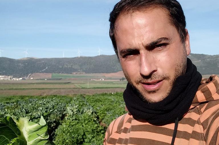 Organic vegetable producer Jaime Rodriguez